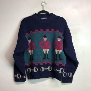 Vintage jockey knit sweater wool size Medium